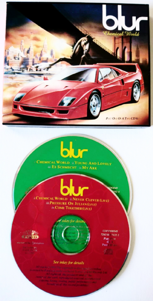 Blur ‎- Chemical World (CD Single Pts 1 & 2) (EX-/VG)